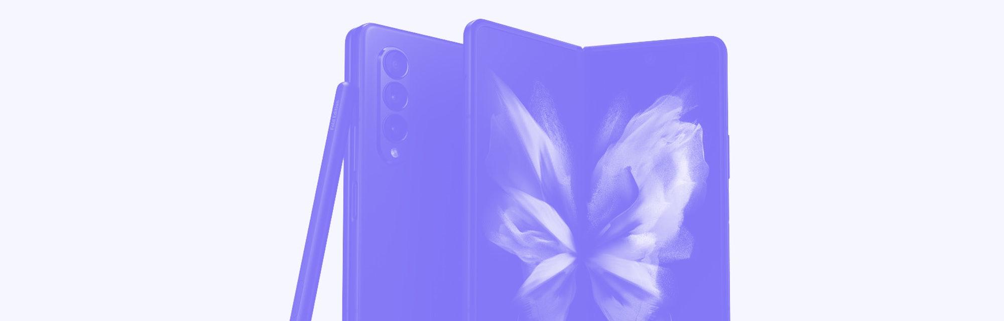 Samsung Galaxy Z Fold 3 foldable smartphone leaked image