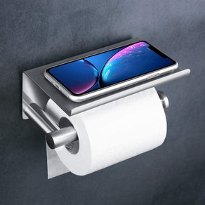 UgBaBa Toilet Paper Holder with Phone Shelf