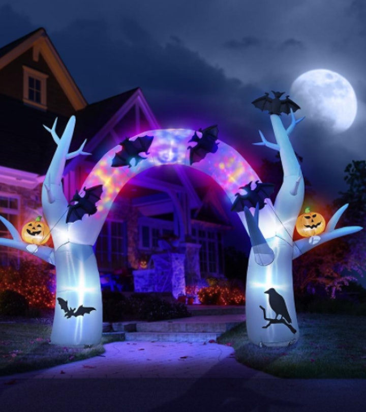 outdoor inflatable halloween archway decoration