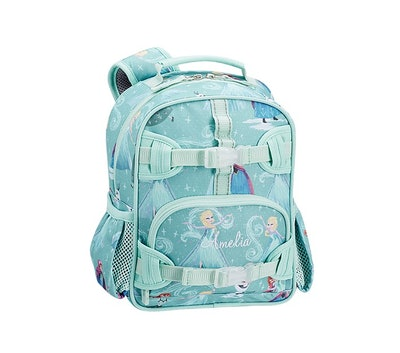 """Teal backpack with Disney """"Frozen"""" pattern with Anna and Elsa"""