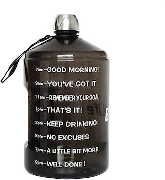 BuildLife 1 Gallon Motivational Water Bottle