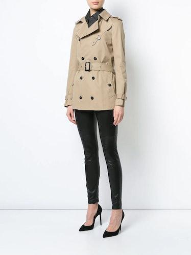 Short Garbadine Trench Coat