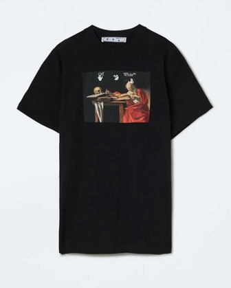 Off-White's Caravaggio graphic oversized T-shirt.