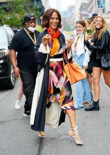 Nicole Ari Parker on the set of 'And Just Like That'