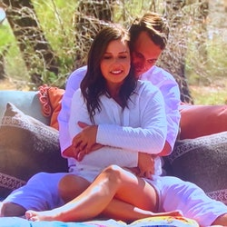 Mike and Katie on a cuddling date on 'The Bachelorette'