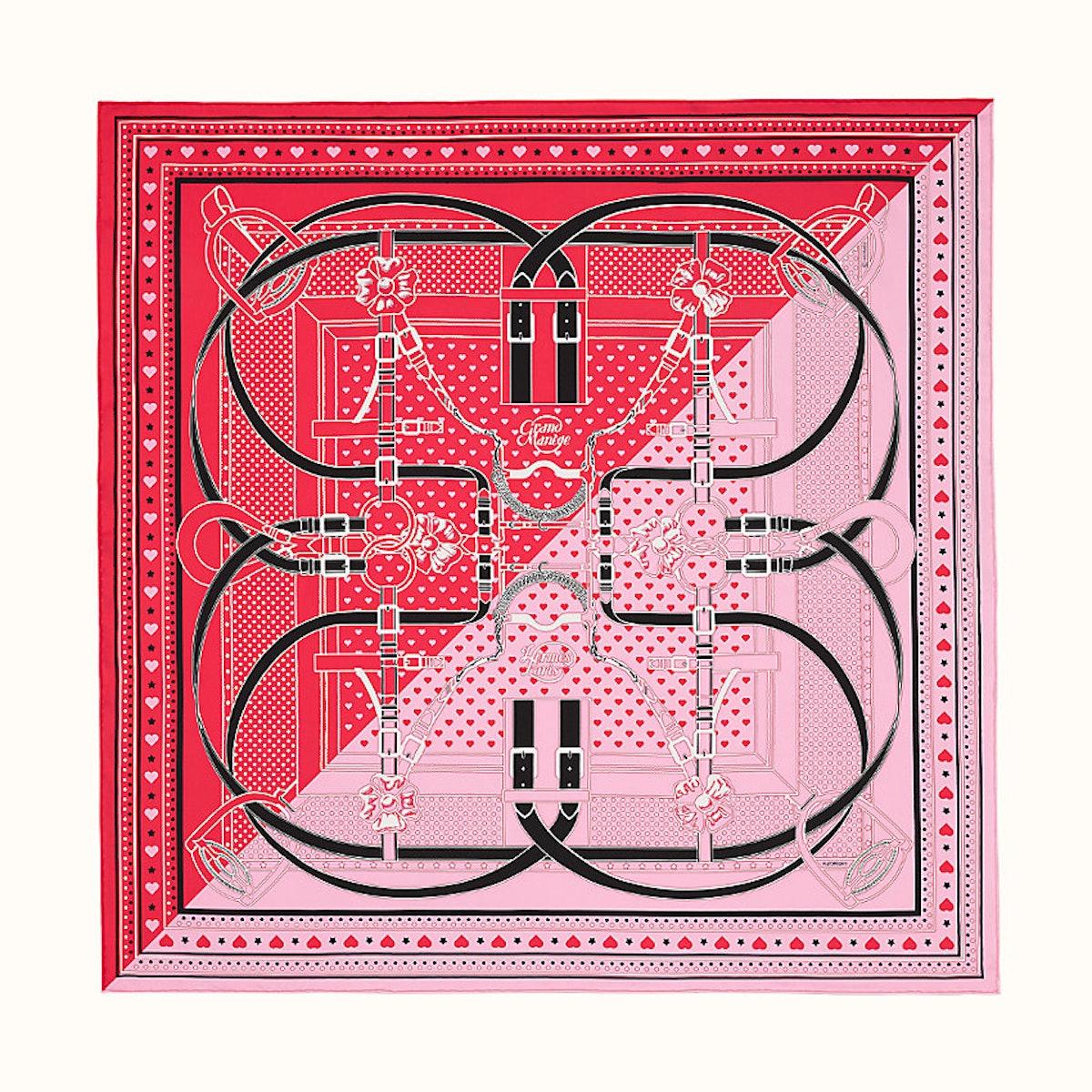 Hermes Grand Manege Bandana Love scarf 70