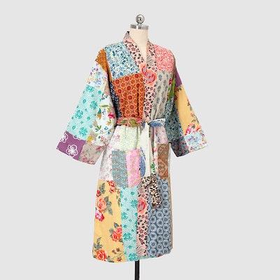 Repurposed Cotton Sari Robe