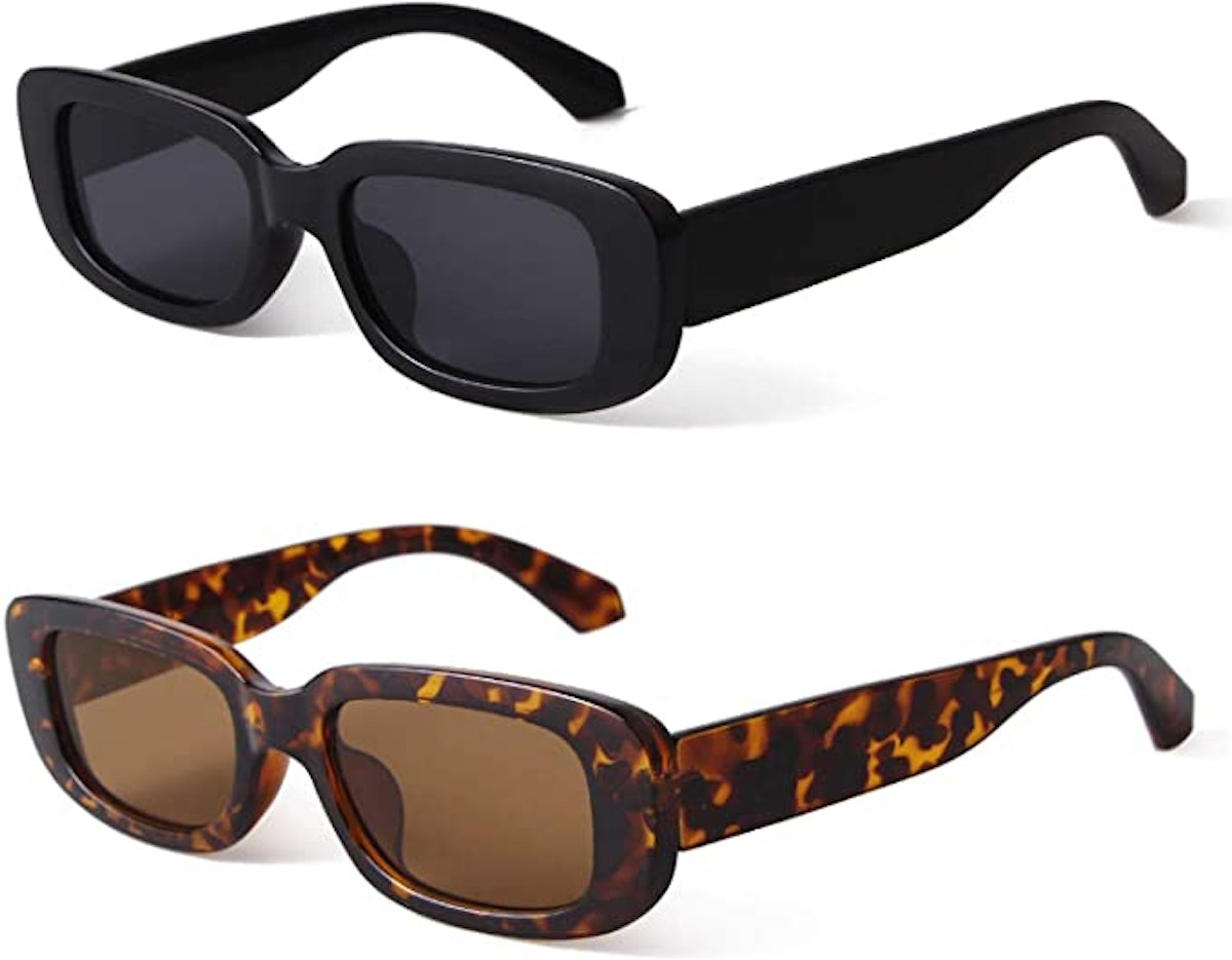 BUTABY Rectangle Sunglasses (2-Pack)