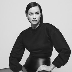 Model and street style star Irina Shayk wears DL1961 leggings from the brands new Fall/Winter 2021 campaign, shot by Chris Colls and styled by Alex White in New York City.