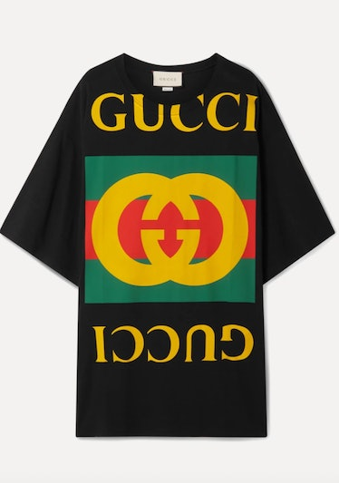 Gucci's oversized logo graphic T-shirt.