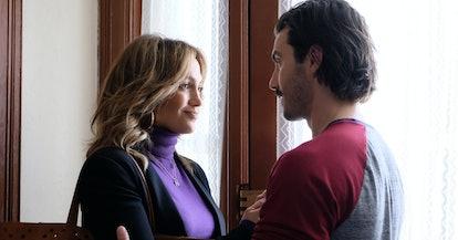 Jennifer Lopez and Milo Ventimiglia star in 'Second Act.'