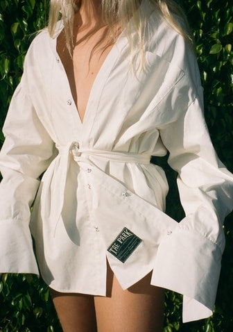 Oversize Boyfriend Dress Shirt Mascarpone