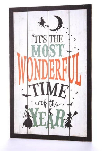 It's The Most Wonderful Time of the Year Witches Motif Wall Sign