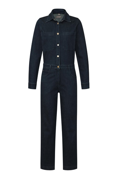 DL1961 Freja Ankle Jumpsuit in Dark Indigo from the brand's Fall/Winter 2021 collection.