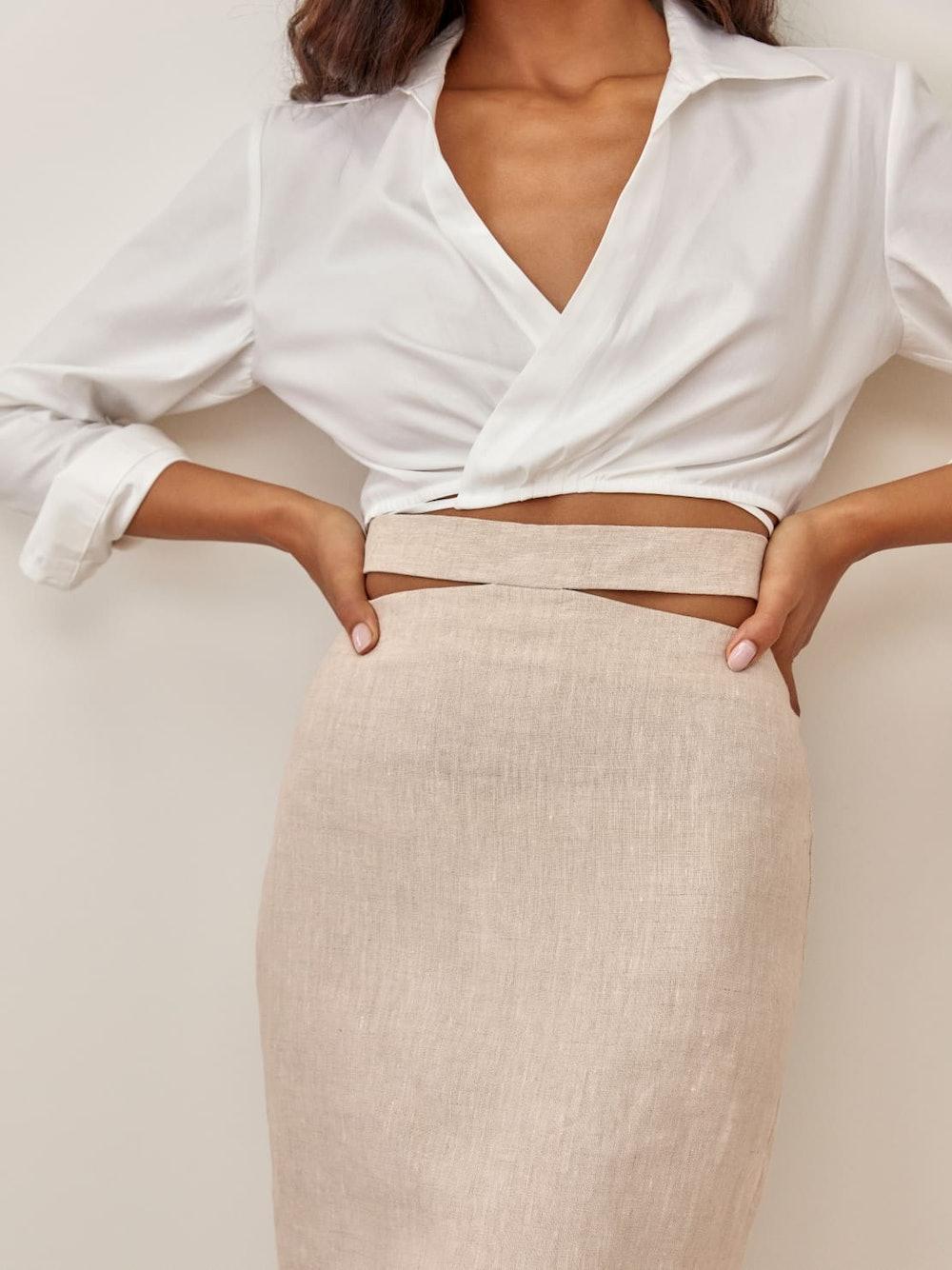 Penne Linen Skirt