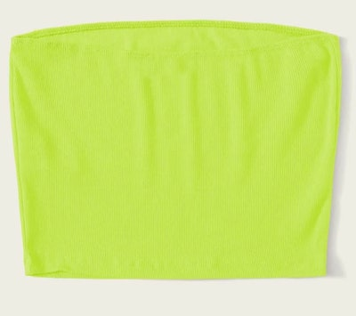 NEON GREEN tube top from shein