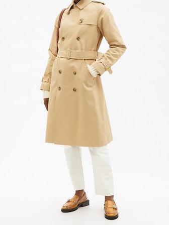 Greta Cotton-Twill Trench Coat