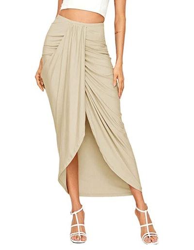 SheIn Maxi Draped Skirt