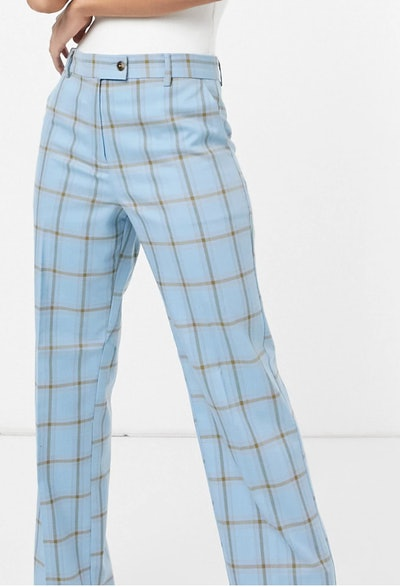 blue grid suit pants from ASOS