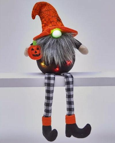 Lighted Halloween Shelf Sitter Gnome Figurine
