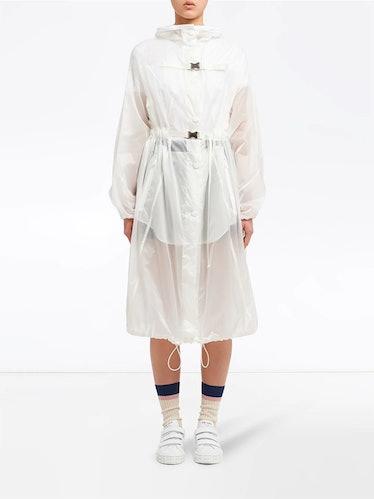 Oversized Belted Raincoat