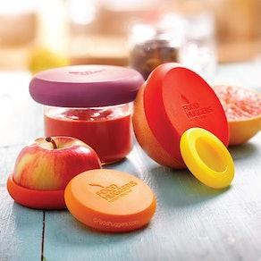 Food Huggers Reusable Silicone Food Savers (Set of 5)