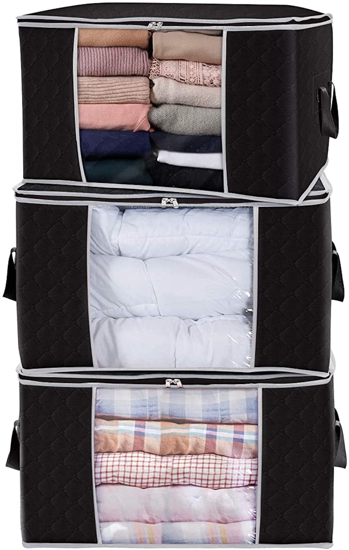 Lifewit Large Capacity Clothes Storage Bag (3-Pack)
