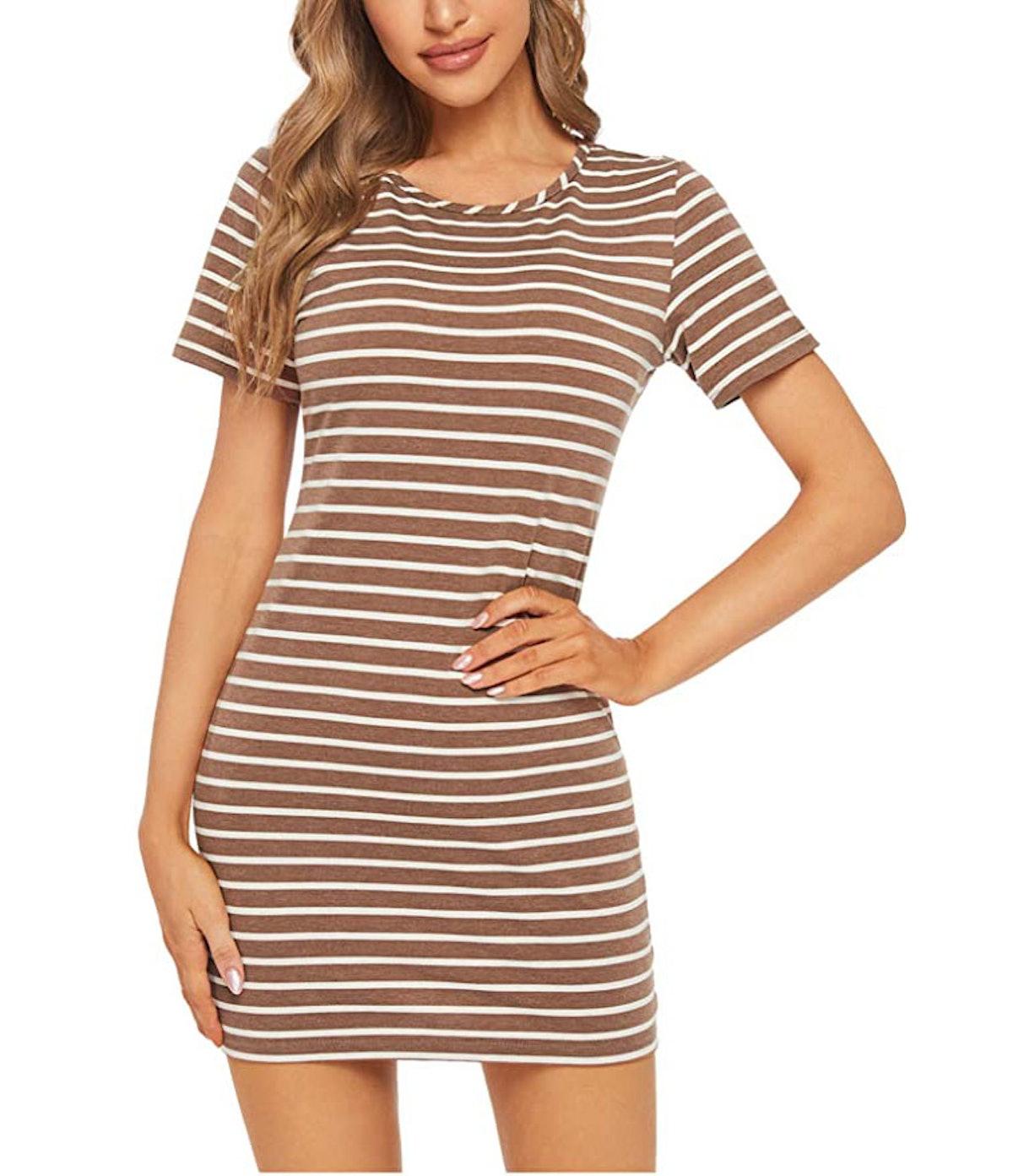 Floerns Striped Mini Dress
