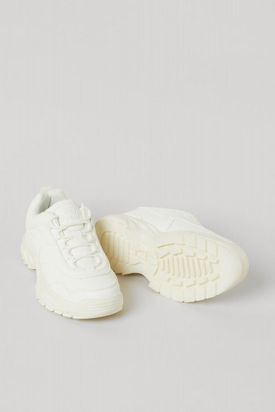 white chunky sneakers for kids, from H&M