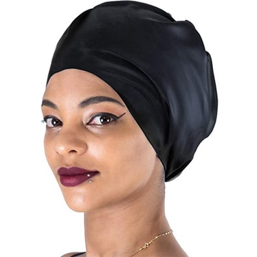 Dsane Extra Large Silicone Swim Cap For Very Long Hair