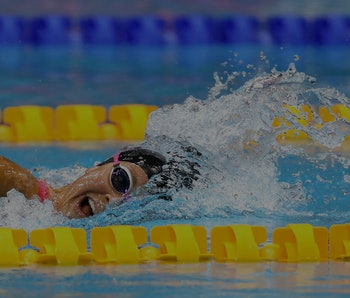 LONDON, ENGLAND - SEPTEMBER 09: Rebecca Meyers of The United States of America competes in the Women's 400m Freestyle S13 Final on Day One of the London 2019 World Para-swimming Allianz Championships at Aquatics Centre on September 09, 2019 in London, England. (Photo by James Chance/Getty Images)