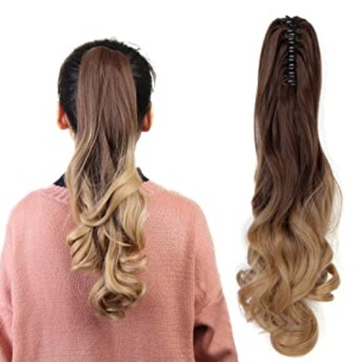 long clip-in ponytail hair extension