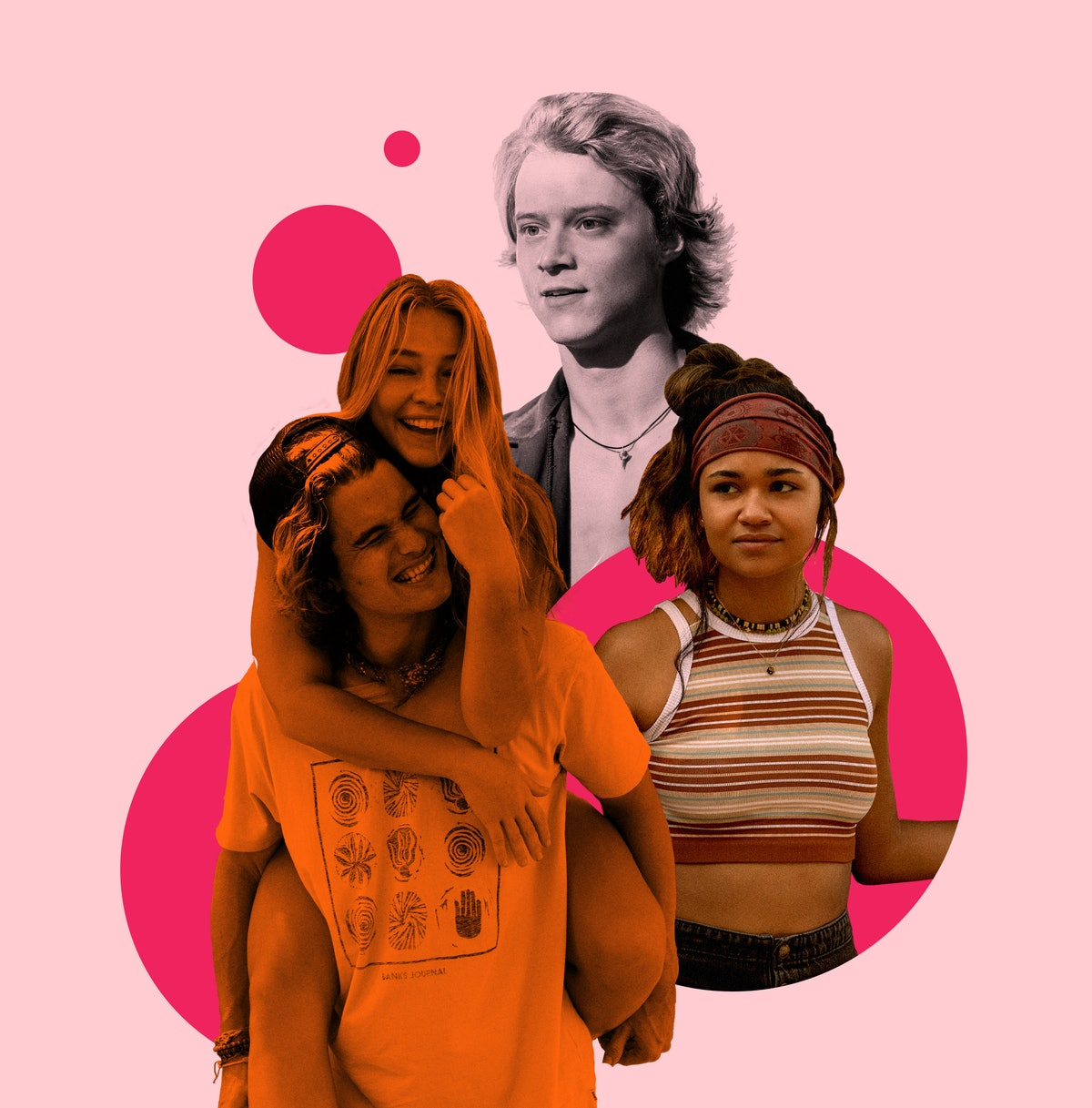 Chase Stokes, Madelyn Cline, Rudy Pankow, and Madison Bailey from 'Outer Banks'