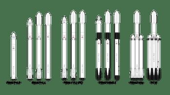 spacex falcon fleet of rockets