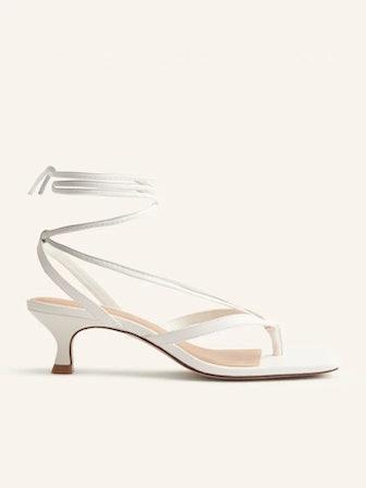 Selene Lace Up Kitten Heel Sandal