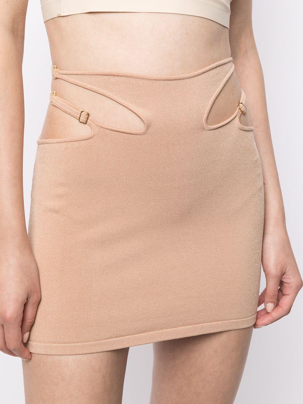 Cut-Out Hosiery Mini Skirt