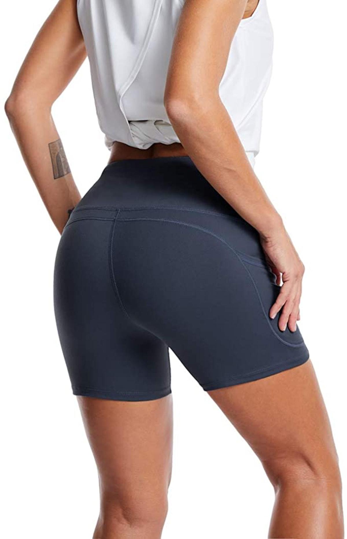 THE GYM PEOPLE High Waist Yoga Shorts
