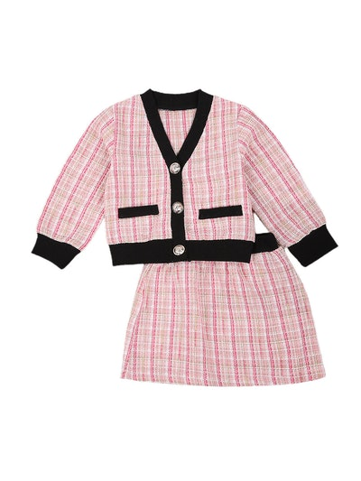 pink plaid suit for toddlers and kids, from Walmart