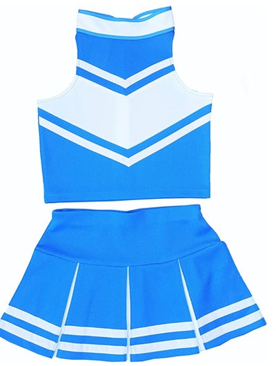 kids light blue cheerleader costume