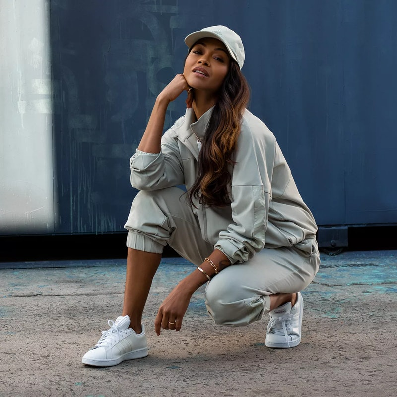Zoe Saldaña shares the inspiration behind her Adidas collection, her favorite activewear trends, and...