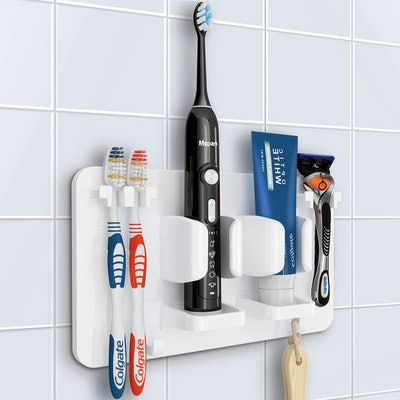 Mspan Wall-Mounted Bathroom Accessories Organizer