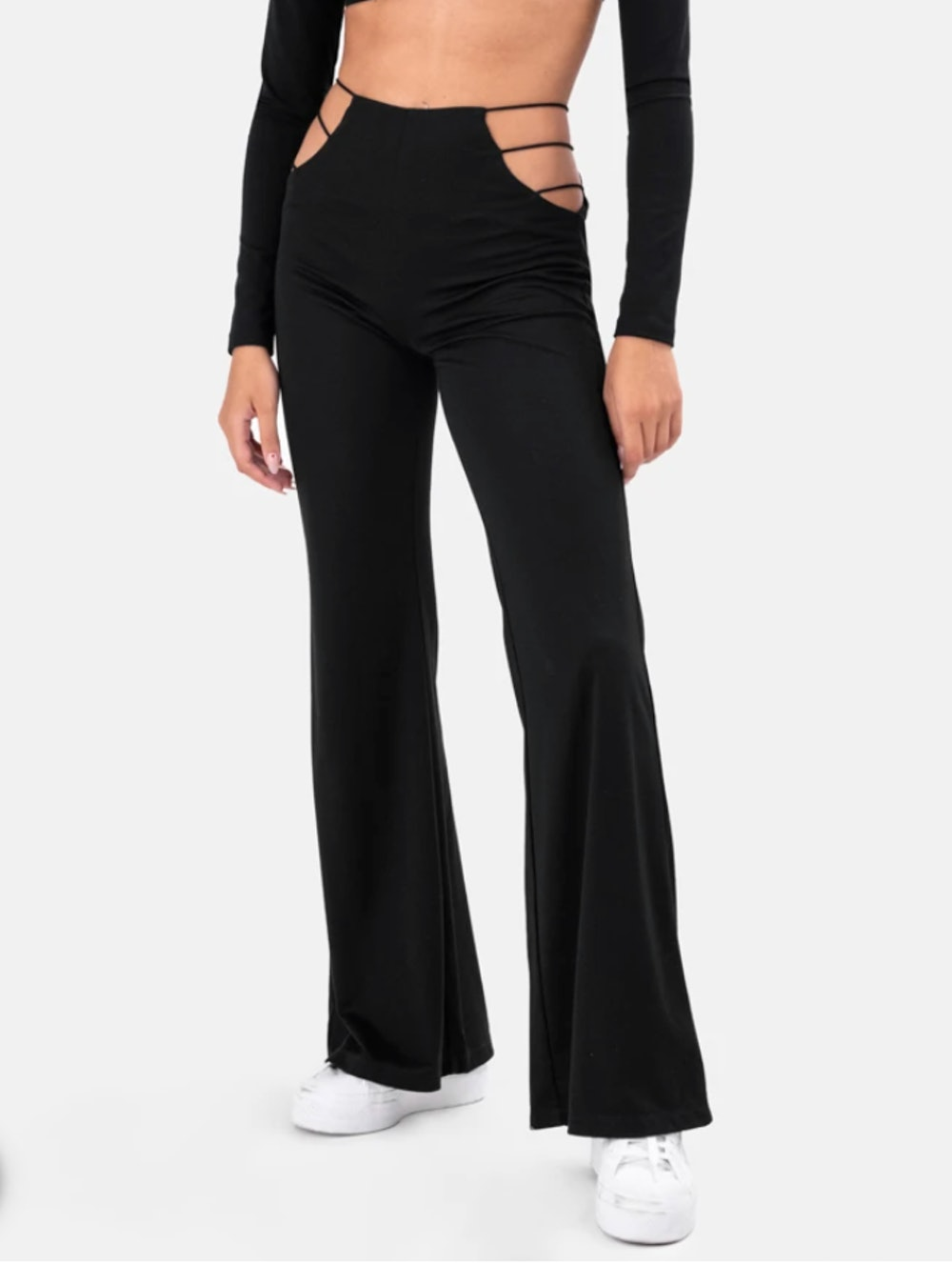 Empire Flare Cut-Out Pants