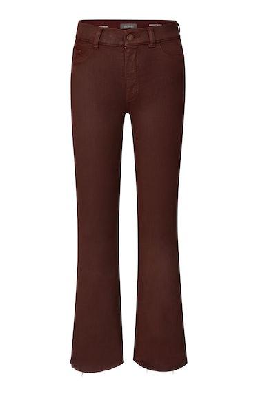 DL1961 Bridget Boot High Rise Bootcut Instasculpt Crop Jean, worn by Irina Shayk in the brand's Fall...