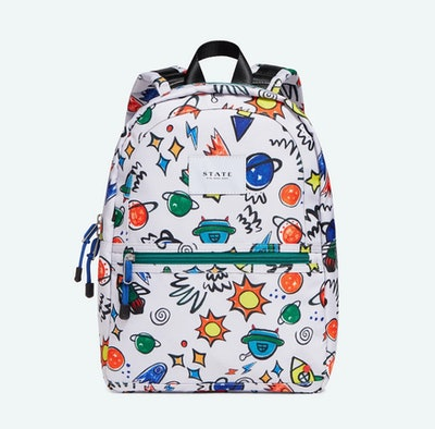 Kid's backpack with colorful planet pattern