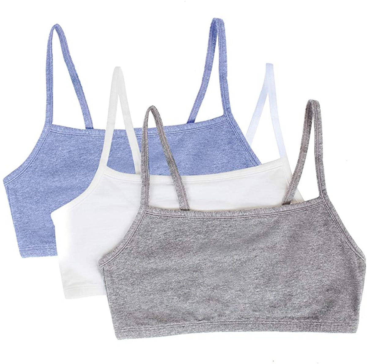 Fruit of the Loom Cotton Sports Bras (Pack of 3)