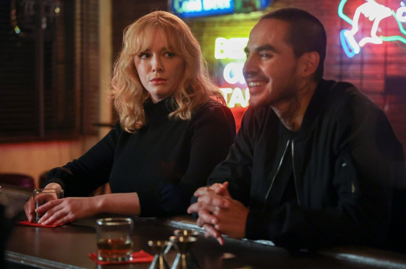Christina Hendrick as Beth Boland and Manny Montana as Rio in 'Good Girls,' which has been canceled ...
