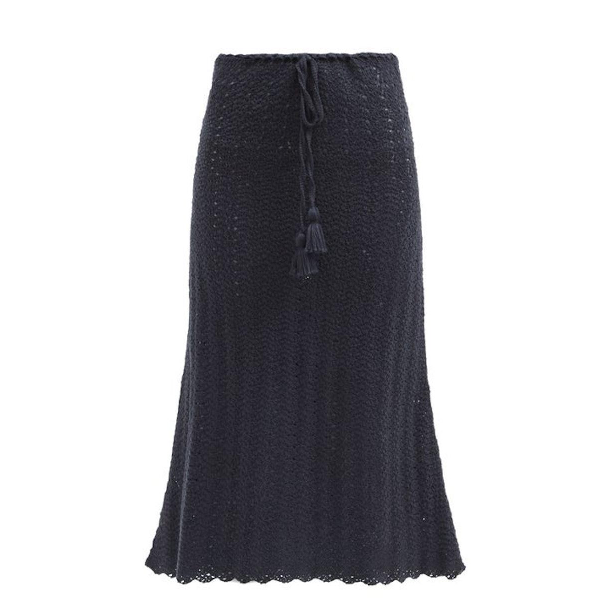 ESCVDO Tarma crocheted Pima-cotton midi skirt