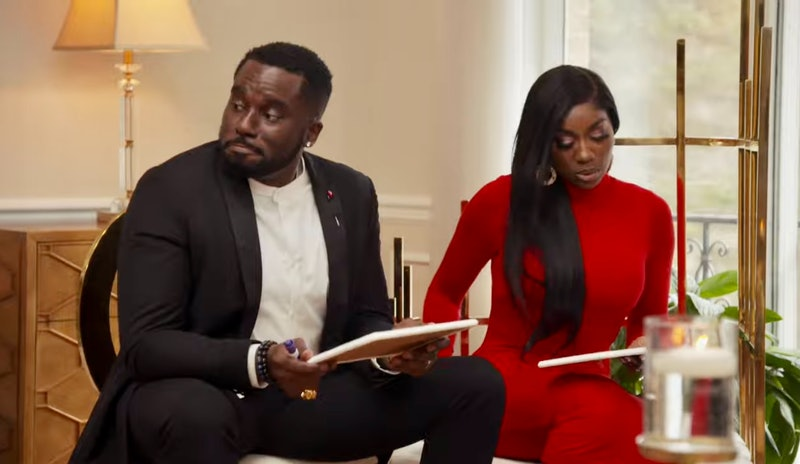 Eddie Osefo & Wendy Osefo in a scene from 'Real Housewives of Potomac' Season 6
