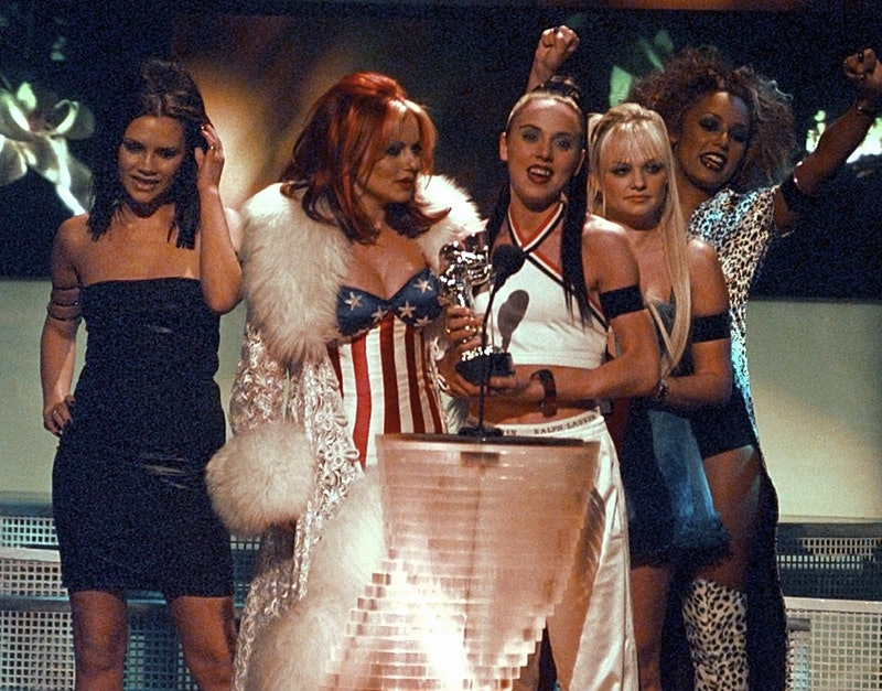 The Spice Girls receive an award for their music video Wannabe at the MTV VMAs