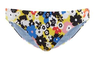 CALA DE LA CRUZ's floral printed bikini briefs.